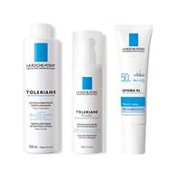 理膚寶水多容安化妝水+多容安乳液+全護防曬液透明色