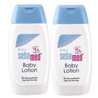 施巴嬰兒潤膚乳液200ml二入組送粉紅沐浴旅用組